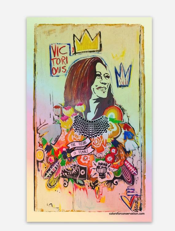 Kamala Harris Victorious 2020 Stickers - Original Artwork