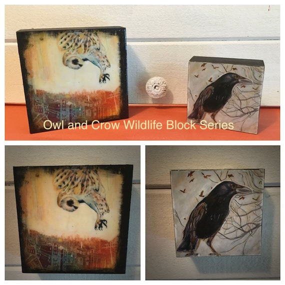 Owl and Crow Wildlife Blocks