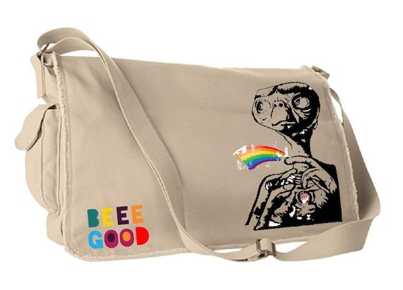 Beeeeeee Gooooddddd - E.T.  Khaki Satchel Bag
