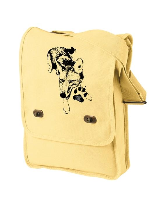 Love Your Urban Wildlife - Original Coyote Artwork - Messenger Bag