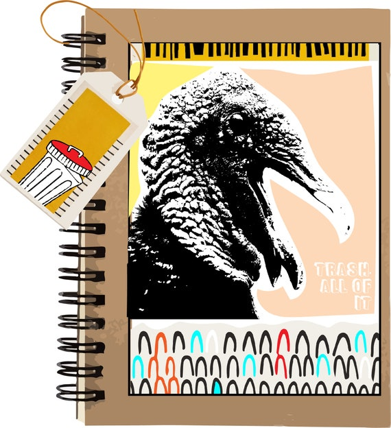 Trash, All Of It - Vulture - Original Artwork - 100 page Kraft Journal