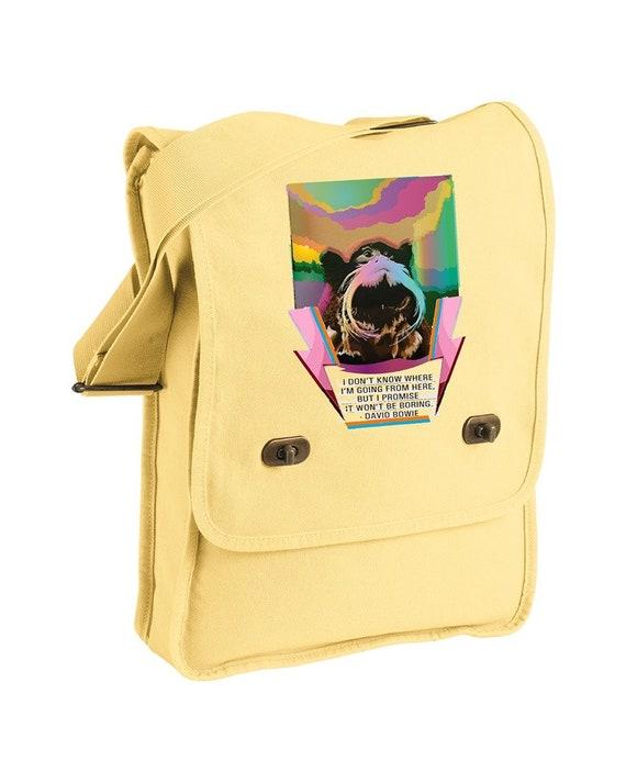 Bowie Tamarin Bag - Jackie Woods Artist - Messenger Bag - Original Artwork
