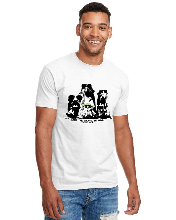 Save the Giants, We will - Baby Yoda Tshirt, Mens