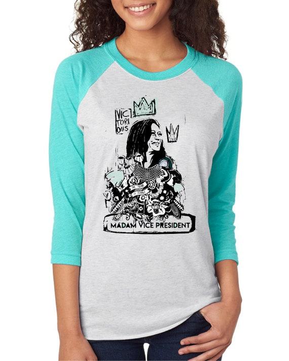 Kamala Harris Madam Monotone Vice President 2020  - Original Artwork  - Unisex Baseball Tshirts