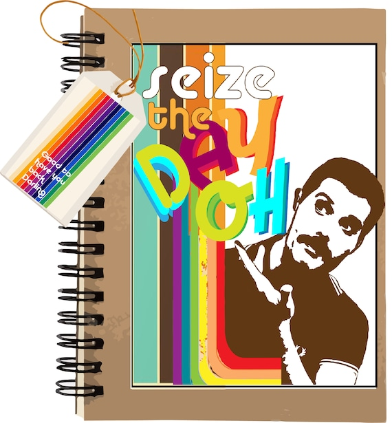 Seize the DAY OHHHHH - Freddie Mercury - Original Artwork - 100 page Kraft Journal