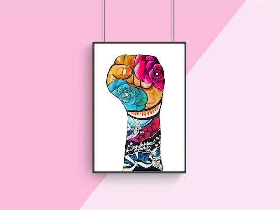 Resist Fist Poster - Original Artwork - Prints