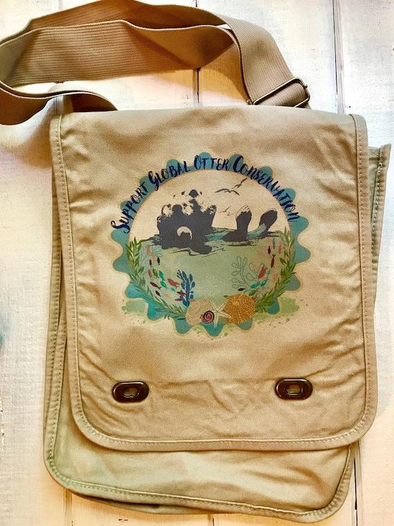 Support Global Otter Conservation - Sea Otter Messenger Bag