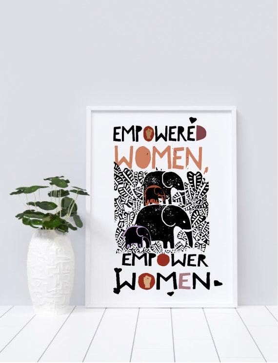 Empowered Women, Empower Women Elephant - Original Artwork - Prints