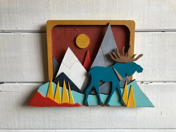 Handcrafted Moose, wooden cutout