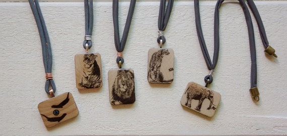 Conservation Critter Necklaces, Handmade