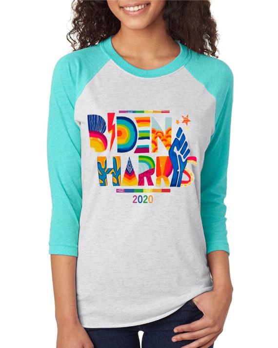 Biden Harris Baseball Tshirts - Original Artwork  - Unisex Baseball Tshirts