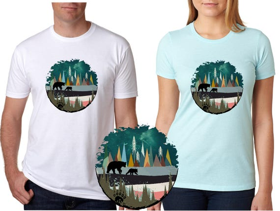 Bears Etc : Tshirt -Women or Mens Scoop Neck