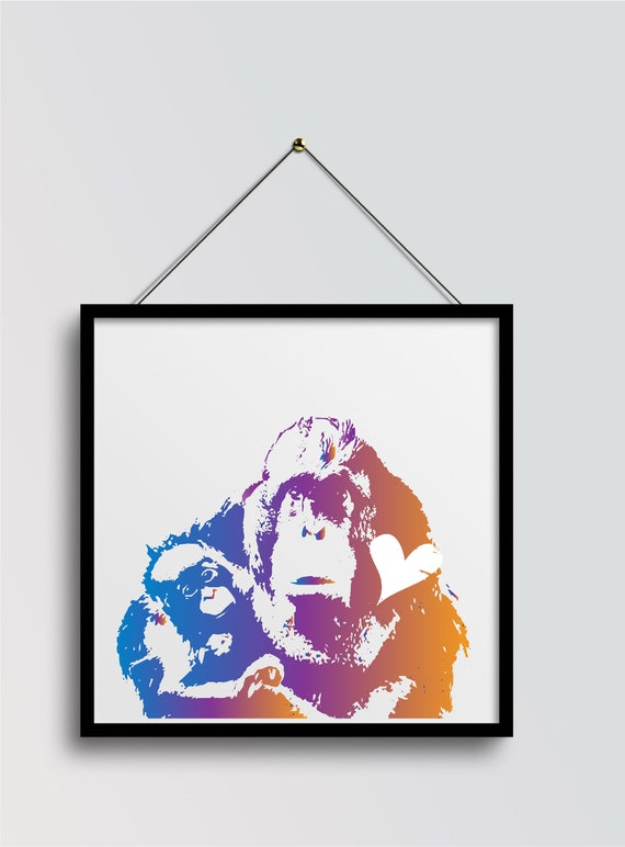 Orangutan Snuggles  Print - Original Artwork - Prints