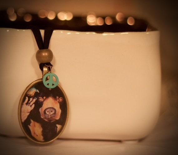 Sunbear Pendant Necklace
