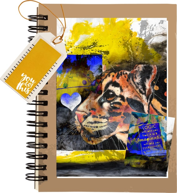 Clouded Leopard - Fantasy - Original Artwork - 100 page Kraft Journal