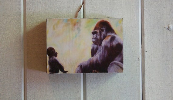 "The Bond Between Gorillas ""Wildlife Block"" - Shipping Included in Price"