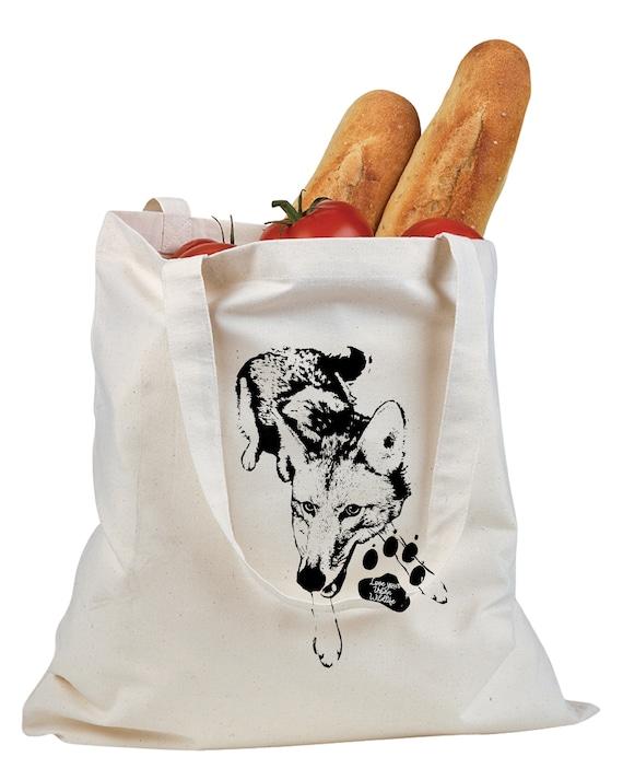 Love Your Urban Wildlife - Original Coyote Artwork - Canvas Tote Bag