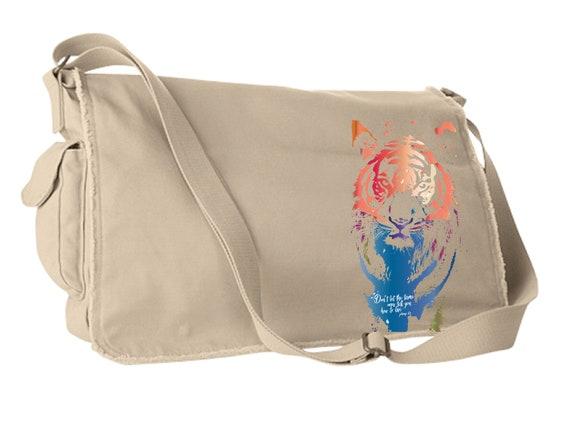 Don't Let Them Tame You - Original Artwork Benefiting the Tiger Conservation Campaign - Satchel Bag