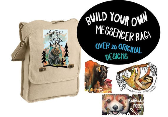 Colorful Conservation Messenger Bags! - MULTIPLE DESIGNS AVAILABLE