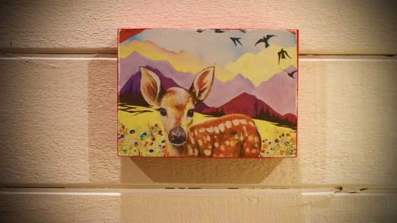 "Mountain Fawn ""Wildlife Block"" - Shipping Included in Price"