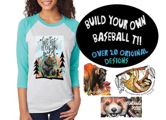 Colorful Conservation Baseball T'shirts! - MULTIPLE DESIGNS AVAILABLE - Unisex Baseball Tshirts
