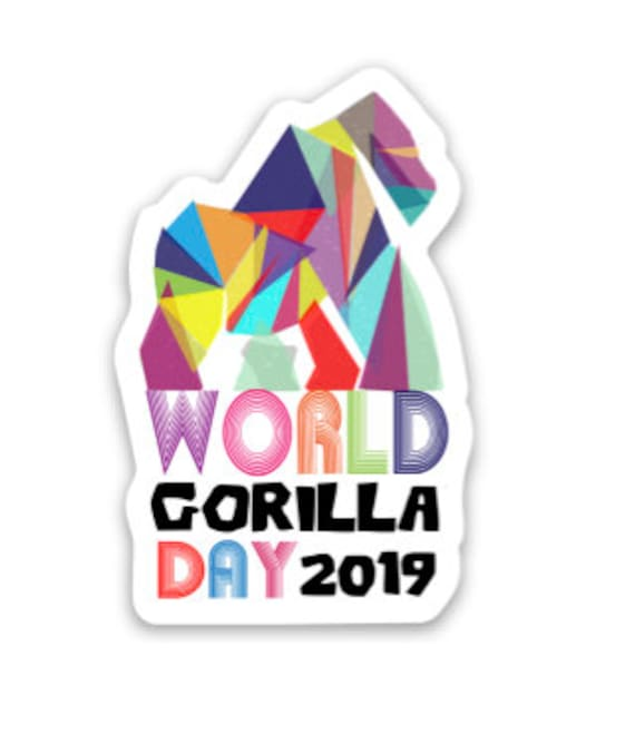 "STICKERS! - World Gorilla Day - Vinyl Stickers -3""x 3"""