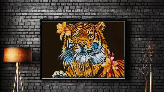 Floral Tiger - Original Artwork - Prints