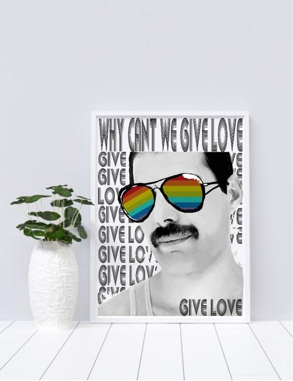 Freddie Mercury, Give Love - Original Artwork - Prints