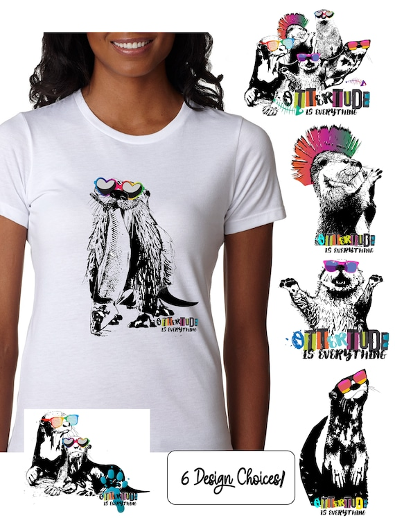 World Otter Day 2020- Original Artwork Benefitting Save the Giants -  Women's Fitted Tshirt