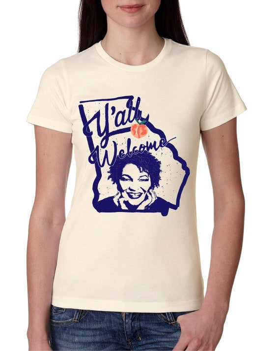 Stacey Abrams, Y'all Welcome Georgia -  Women's Fitted Tshirt