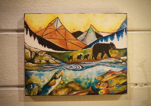 "The Journey Home  ""Wildlife Block"" - Shipping Included in Price"