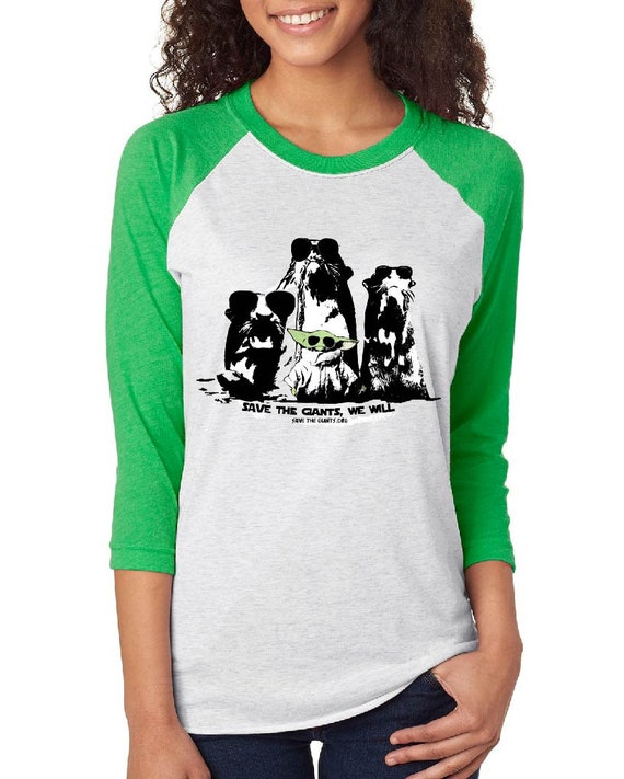 Save the Giants, We Will - Baby Yoda - Unisex Baseball Tshirts