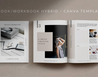 MIO - Canva eBook and Workbook Template with Content, Worksheet, Checklist, and Resources Page Templates.