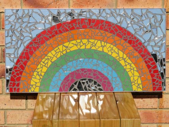 Handmade Rainbow Mosaic Etsy