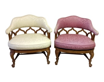 Pair Of French Bergere Louis Xv Style Chairs Etsy