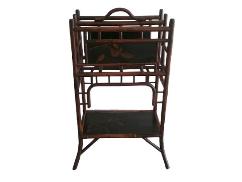 Palecek Bamboo Magazine Rack Newspaper Rackbamboo Furniture Etsy