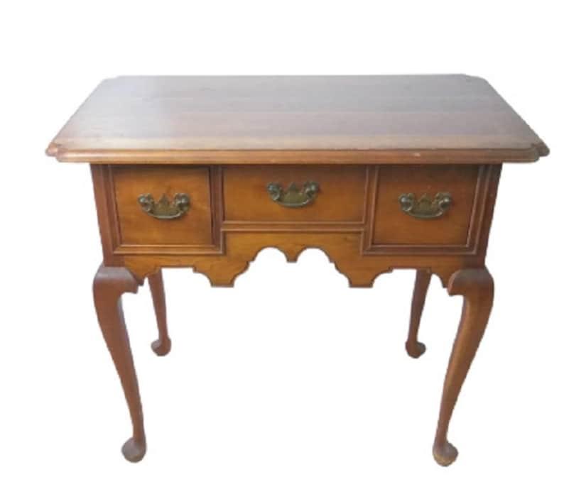Queen Anne Desk >> L Jg Stickley Queen Anne Style Oak Writing Desk Signed