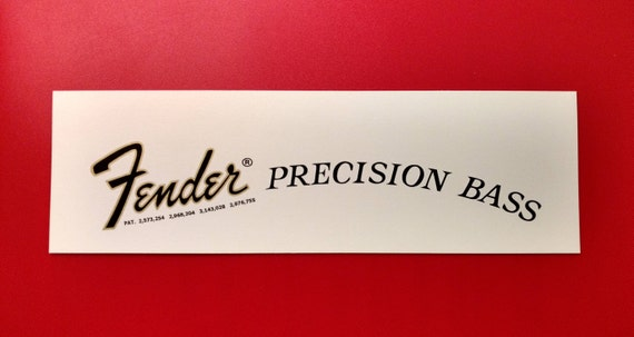 Fender Precision Bass Waterslide Decal in Black and Gold - Two in each order.