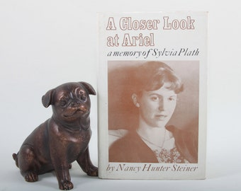 A Closer Look At Ariel, Sylvia Plath, Nancy Hunter Steiner, 1974, Prose, Slipcover, Hardcover, Collection, Vintage, Nostalgia ~ 170318