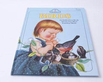Birds, Jane Werner Watson, Eloise Wilkin, Merrigold Press, 1958, Education, Hardcover, Vintage, Picture Book, Child Reading, ~ 20-01-980