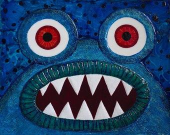 Monster Greeting Card by Kendra Sartorelli