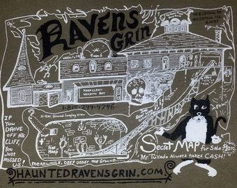 Ravens Grin Haunted House Map shirt Jim Warfield