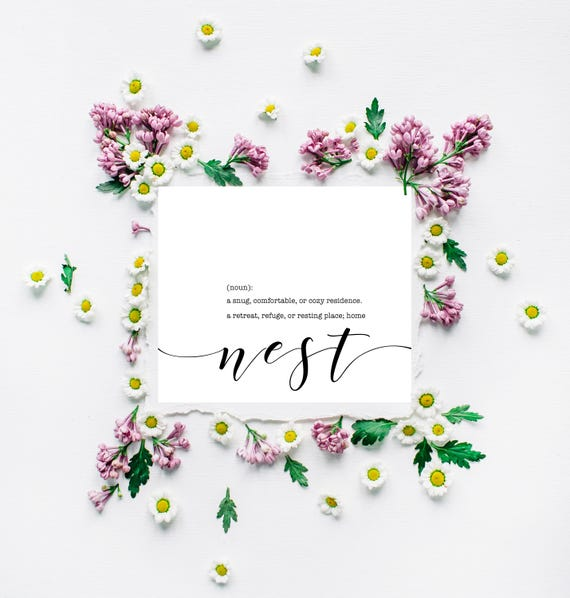 Nest Print Nest Definition Home Print Cozy Modern Print Instant Printable Our Nest Bless Our Nest Living Room Print Nest Sign Wall