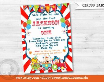 Circus Invitations, Circus Birthday Invitation, Carnival Invitation, Carnival Birthday Invitation, CIRCUS