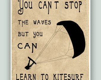 kitesurfing Print various Sizes /& Colors typography Definition Poster
