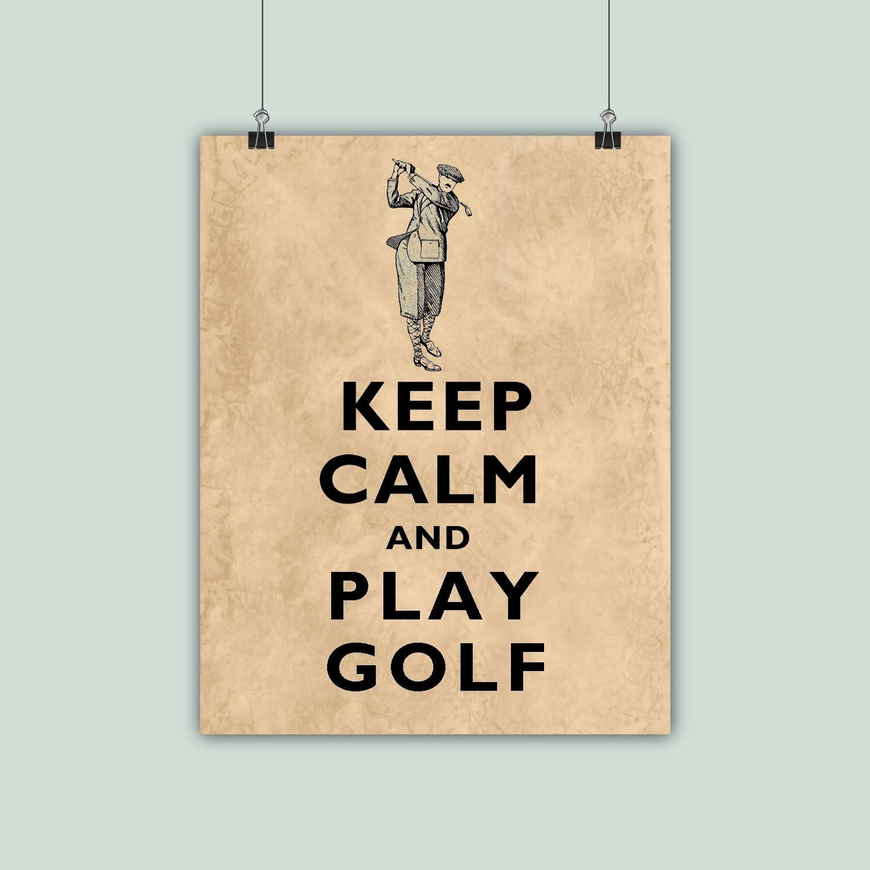 Golf Art Gofer Print Golfing Poster Keep Calm Art Keep   Etsy