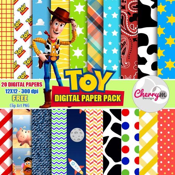 toy story digital papers free clip art digital scrapbooking etsy