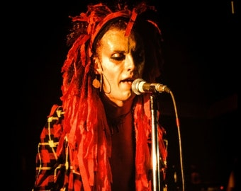 Pete Burns DEAD or ALIVE  .Rafter's Manchester . February 21st 1982 © gary lornie photography.