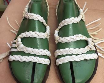 Sandals hand braided