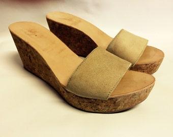 Wedge handmade cork